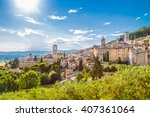 panoramic view of the historic... | Shutterstock . vector #407361064