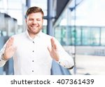 young businessman happy... | Shutterstock . vector #407361439