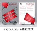 abstract flyer design... | Shutterstock .eps vector #407369227