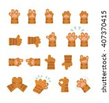 set of hands icons  emoji... | Shutterstock .eps vector #407370415