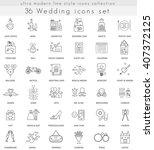 vector wedding ultra modern... | Shutterstock .eps vector #407372125