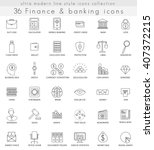 vector finance and banking... | Shutterstock .eps vector #407372215