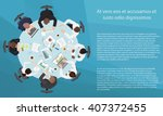 business management teamwork... | Shutterstock .eps vector #407372455