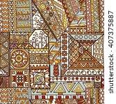 seamless pattern of hand drawn... | Shutterstock . vector #407375887