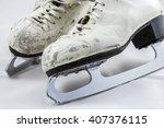 women's white figure skates... | Shutterstock . vector #407376115