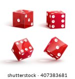 casino dice  icon   isolated on ... | Shutterstock .eps vector #407383681