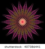 abstract fractal illustration... | Shutterstock . vector #407386441