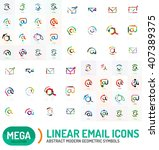 mega collection of email logos | Shutterstock .eps vector #407389375