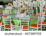 wedding table decoration | Shutterstock . vector #407389705