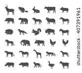 set of illustrations farm... | Shutterstock . vector #407391961