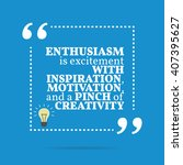 inspirational motivational... | Shutterstock .eps vector #407395627