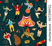 seamless circus pattern | Shutterstock .eps vector #407398921