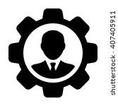 user icon with gear   vector | Shutterstock .eps vector #407405911
