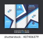 multipurpose tri fold brochure... | Shutterstock .eps vector #407406379