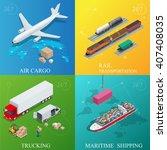 global logistics network. flat... | Shutterstock .eps vector #407408035