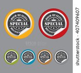 vector   circle special high... | Shutterstock .eps vector #407409607