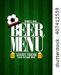beer menu design card for... | Shutterstock .eps vector #407412559