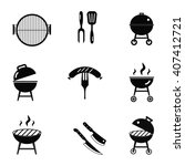 stock vector barbecue... | Shutterstock .eps vector #407412721