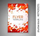 abstract flyer design.... | Shutterstock .eps vector #407420251