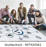 technology digital share media... | Shutterstock . vector #407424361