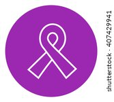 ribbon line icon. | Shutterstock .eps vector #407429941