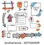 vector hand drawn set on white... | Shutterstock .eps vector #407430409