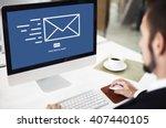 messaging email send envelope... | Shutterstock . vector #407440105