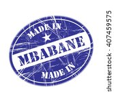 made in mbabane rubber stamp | Shutterstock .eps vector #407459575