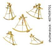 sextant in various positions...   Shutterstock . vector #407459701