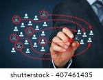 assemble a business team ... | Shutterstock . vector #407461435