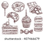 confectionery  sketches  hand... | Shutterstock .eps vector #407466679