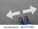 Small photo of Decision decide business man concept businessman goals success solution job work choice
