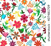 seamless floral background... | Shutterstock .eps vector #407481709