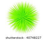 Green Sharp Ball On White