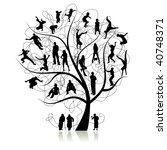 family tree  relatives | Shutterstock .eps vector #40748371