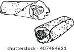 wraps vector drawing | Shutterstock .eps vector #407484631