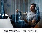 technology  gaming ... | Shutterstock . vector #407489011