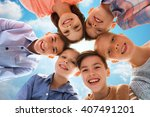 childhood  fashion  summer ... | Shutterstock . vector #407491201