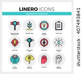 line icons set of business... | Shutterstock .eps vector #407493841