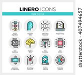 line icons set of intelligent... | Shutterstock .eps vector #407494657