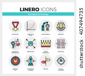 line icons set of business... | Shutterstock .eps vector #407494735