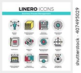 line icons set of business... | Shutterstock .eps vector #407495029