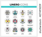 line icons set of product life... | Shutterstock .eps vector #407495059