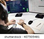 php programming html coding... | Shutterstock . vector #407505481