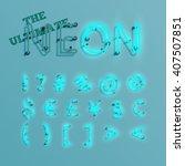 realistic neon character... | Shutterstock .eps vector #407507851
