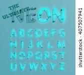 realistic neon character... | Shutterstock .eps vector #407507941
