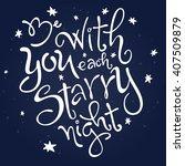 vector hand lettering love... | Shutterstock .eps vector #407509879