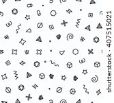 geometric sweets seamless... | Shutterstock .eps vector #407515021