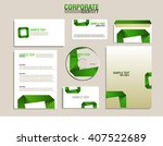corporate identity template... | Shutterstock .eps vector #407522689