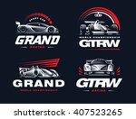 sport cars logo set... | Shutterstock .eps vector #407523265